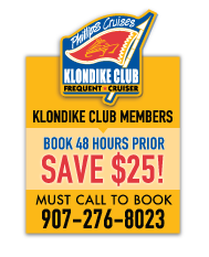 Klondike Club Members - Call to Book Prince William Sound Glacier Cruise