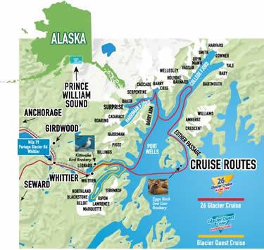 Glaciers in Prince William Sound Whittier, Alaska by Phillips Cruises