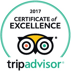 2017 Certificate of Excellence on Trip Advisor